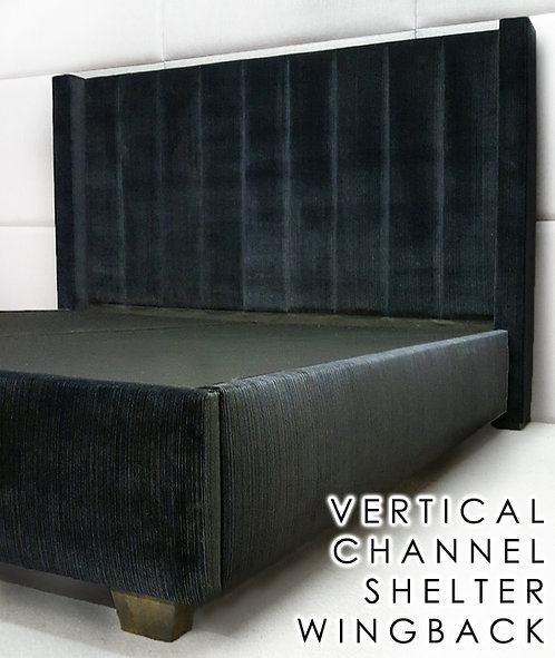 Vertical Channel Shelter Wingback