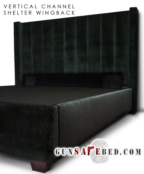 The Vertical Channel Shelter Wingback Gunsafe Headboard