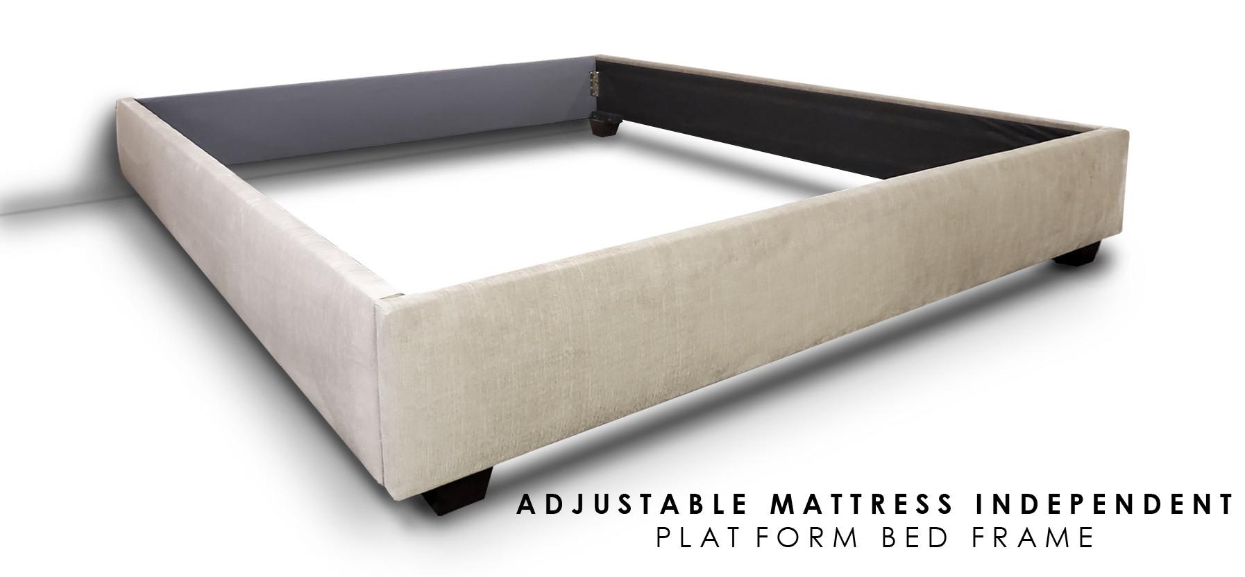 ADJUSTABLE INDEPENDENT PLATFORM BED FRAM