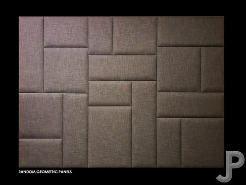 Random Geometric Upholstered Wall Panels