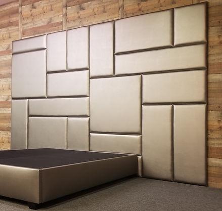 Upholstered Wall Panels with Independent Platform Bed Frame
