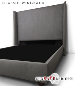 The Classic Wingback Gunsafe Bed