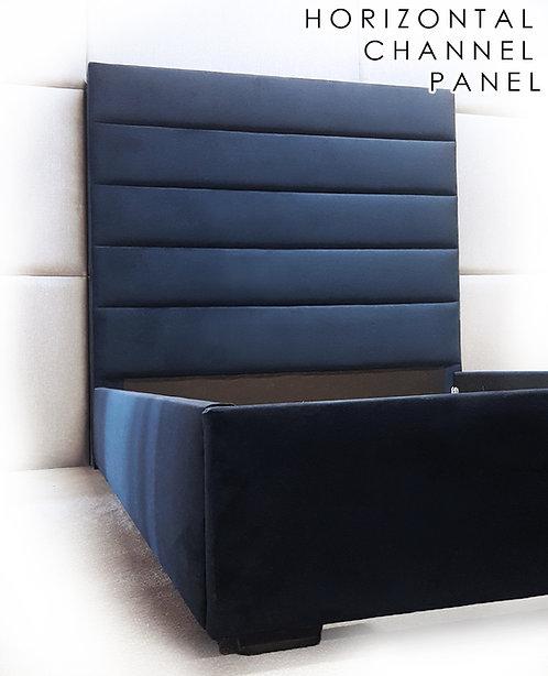 Horizontal Channel Panel Headboard