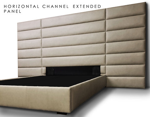 Horizontal Channel Extended Panel Headboard