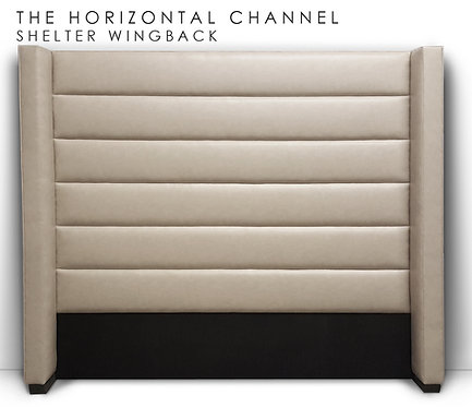 Horizontal Channel Shelter Wingback
