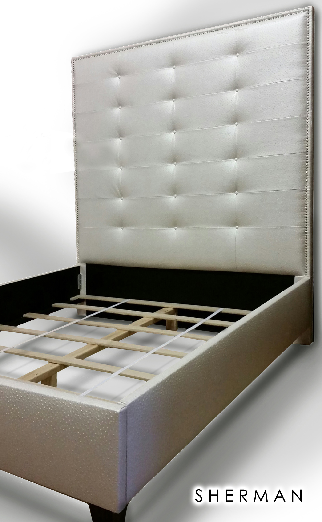 Luxurious Wingback Tufted Bed With Rhinestones By Newagainuph ...