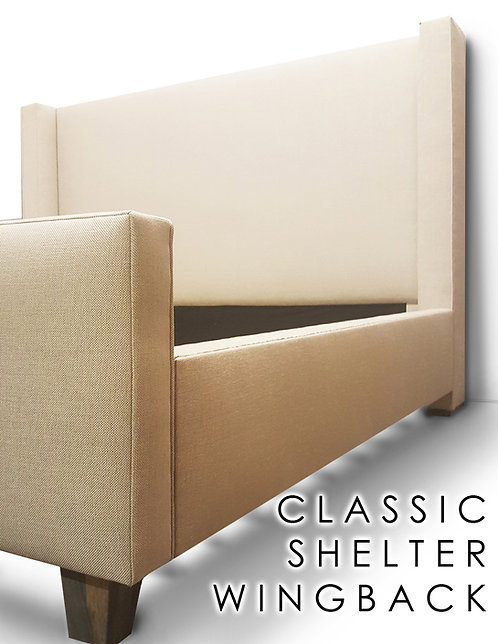 Classic Shelter Wingback Headboard