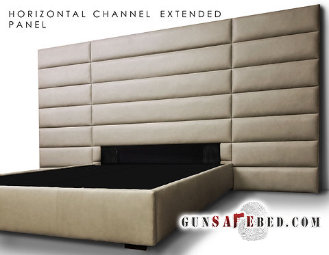The Horizontal Channel Extended Panel Gunsafe Headboard