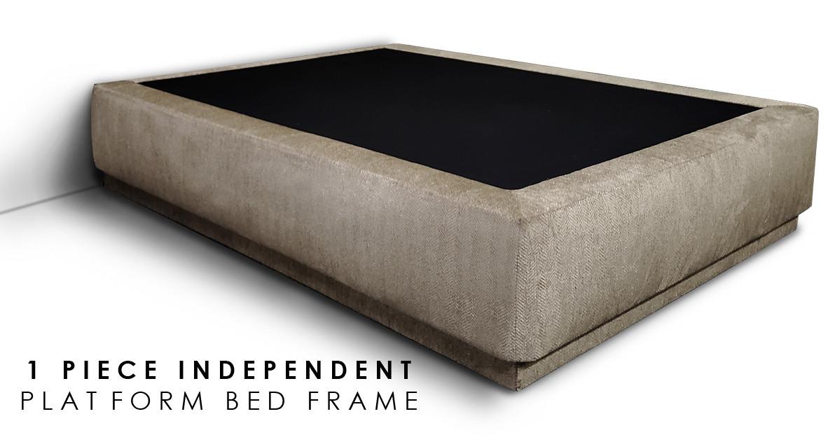 1 PIECE INDEPENDENT PLATFORM BED FRAME.j
