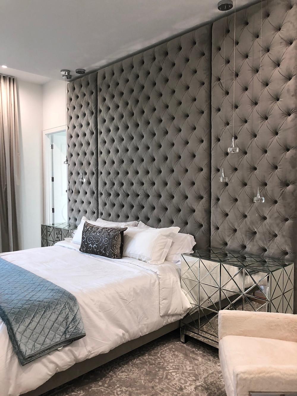 10 feet tall Deep Diamond Tufted Wall Panels