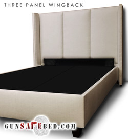 The 3 Panel Wingback Gunsafe Bed