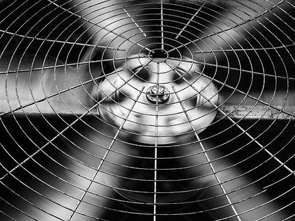 Closeup of black HVAC (Heating, Ventilat