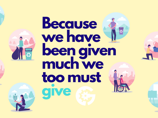 Because We Have Been Given Much, We Too Must Give