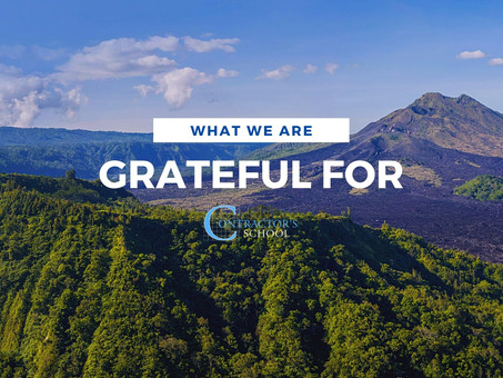 What We're Grateful For