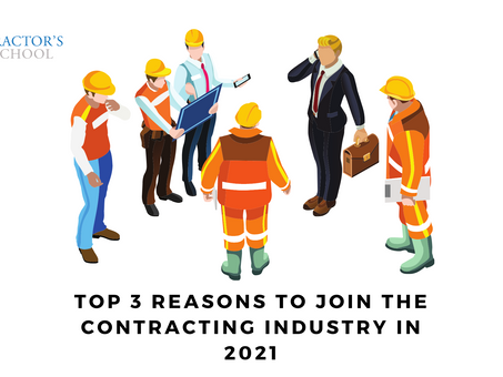 3 Reasons to Join the Contracting Industry in 2021