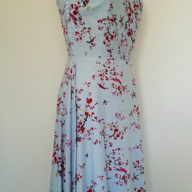 20's inspired rayon dress