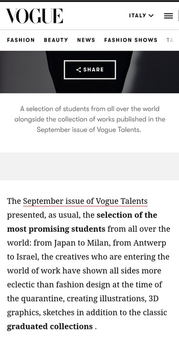 Vogue Talents selects 22 students from Global Fashion Schools
