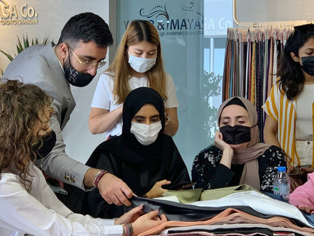 Yaser and Mayasa | Fashion Design Industry Visit
