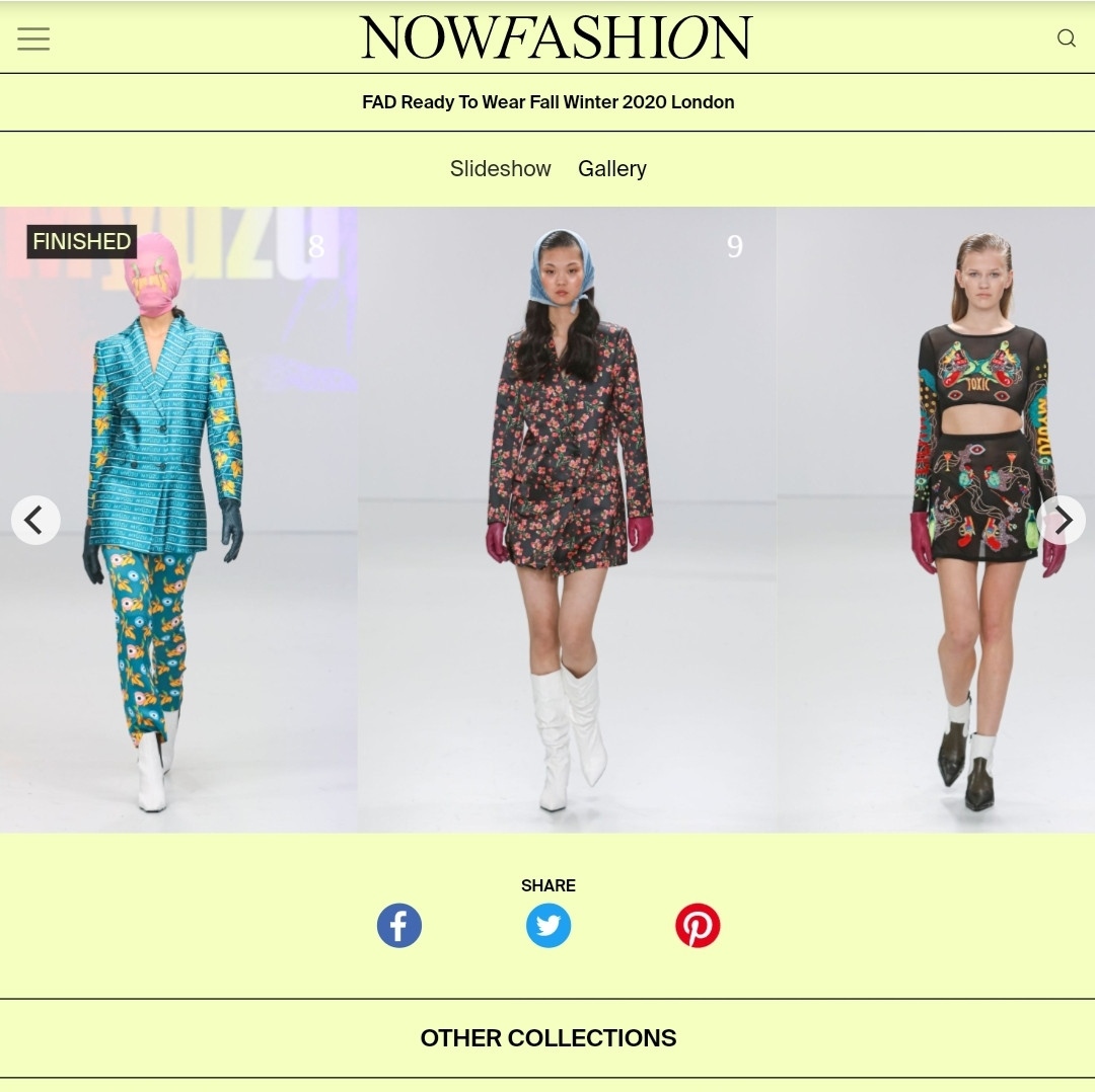AW20 NOW FASHION fashion design students FAD International