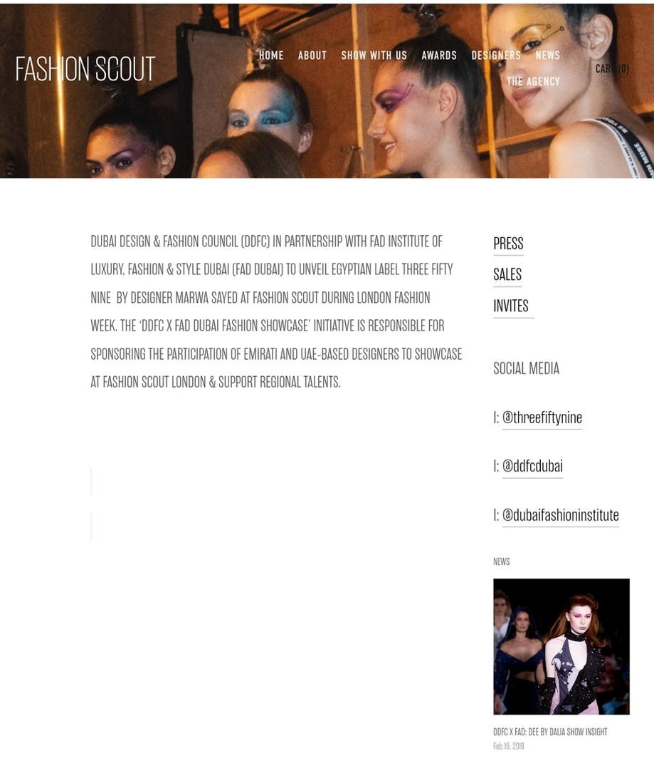 Fashion Scout fashion design students FAD International