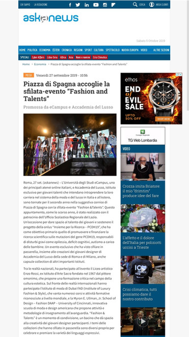 Ask News fashion design students FAD International
