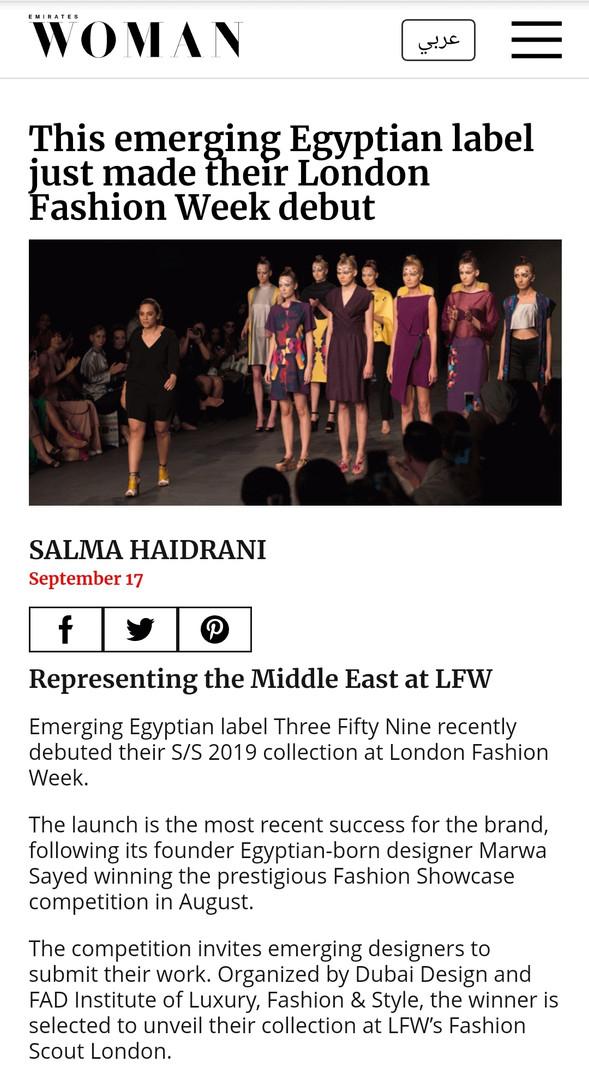 Emirates Woman fashion design students FAD International