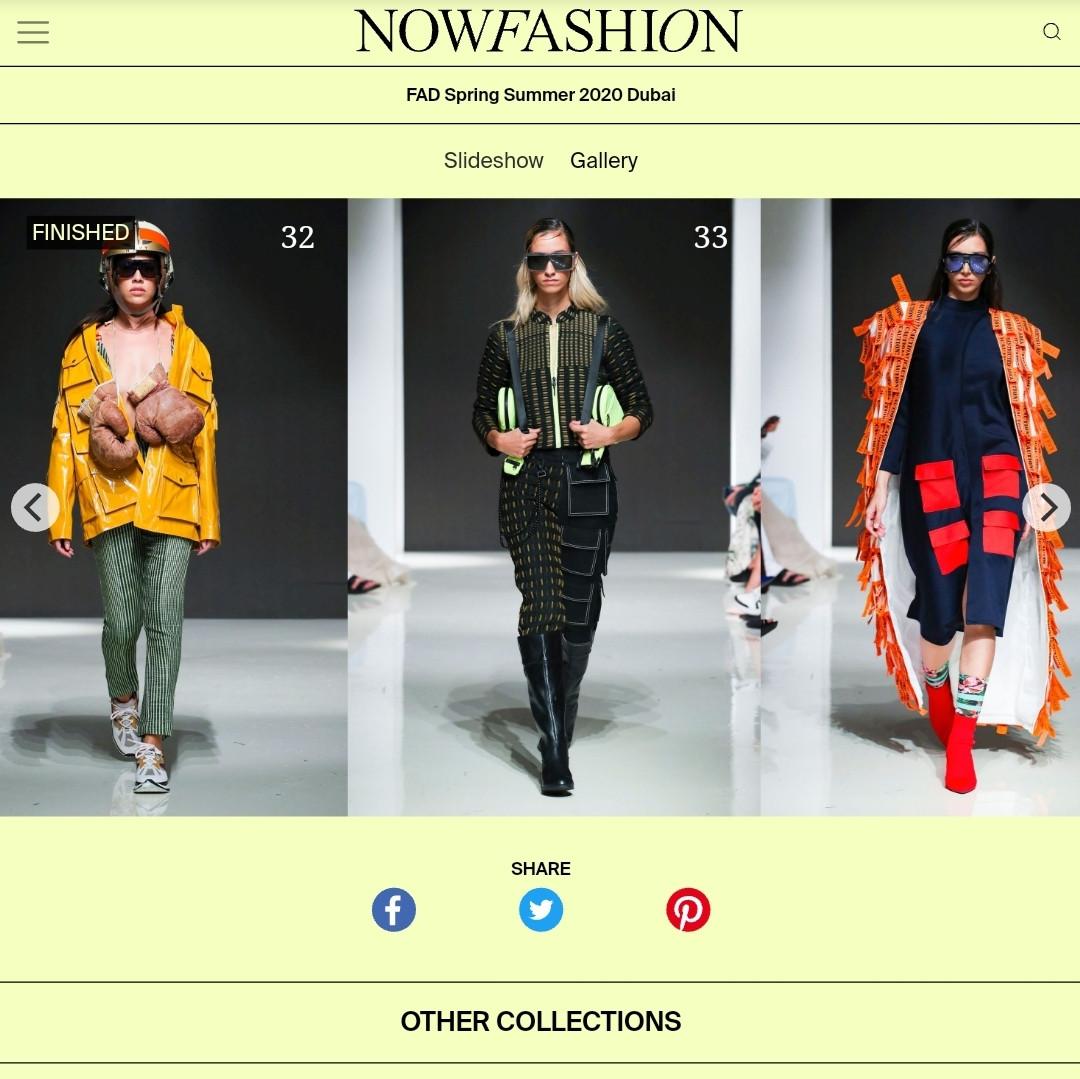 AFW SS20 NOWFASHION fashion design students FAD International