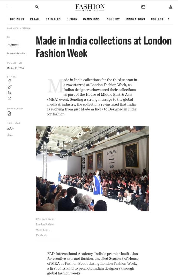 Fashion Network fashion design students FAD International