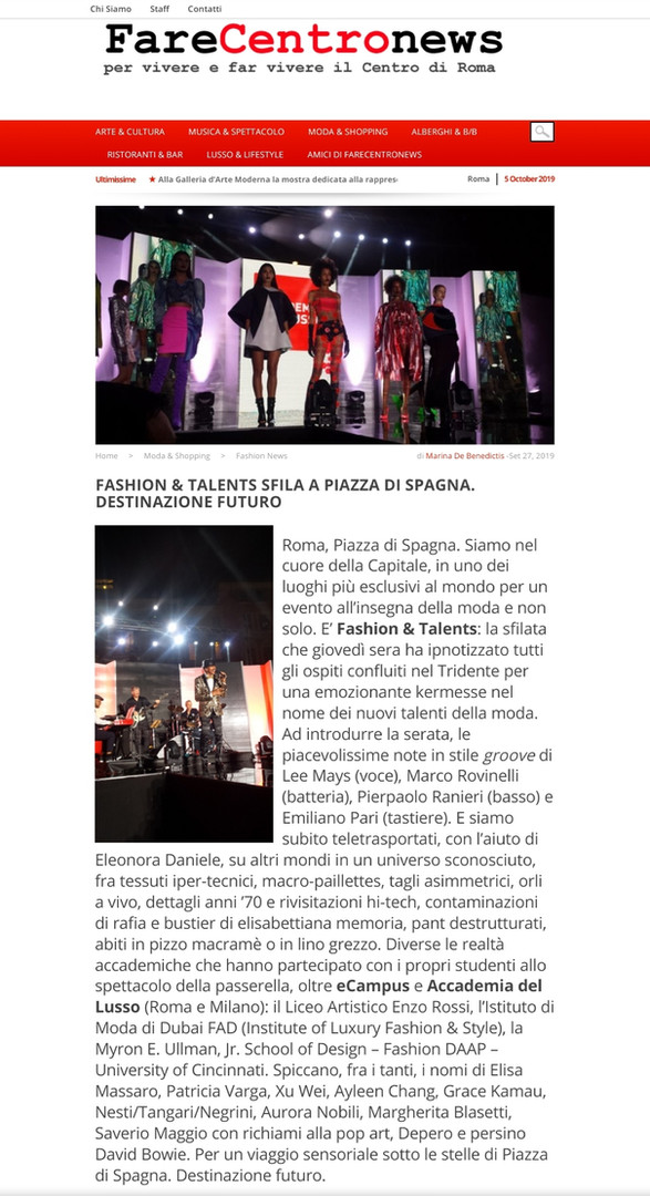 Fare Centro News fashion design students FAD International