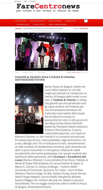 Fare Centro News fashion design students FAD International