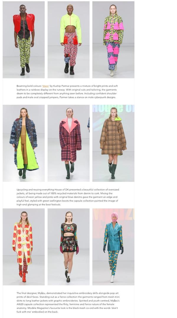 Modele Magazine fashion design students FAD International