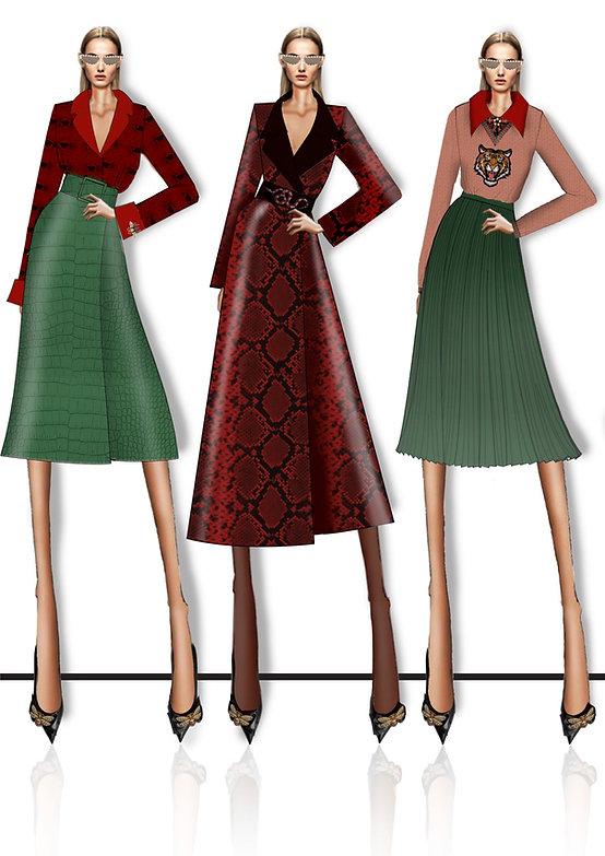 Online Fashion Design Illustration