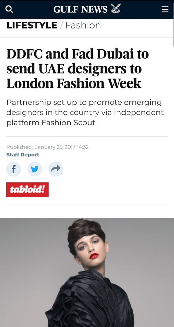 Gulf News fashion design students FAD International