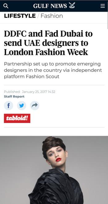 Gulf News fashion design students FAD International