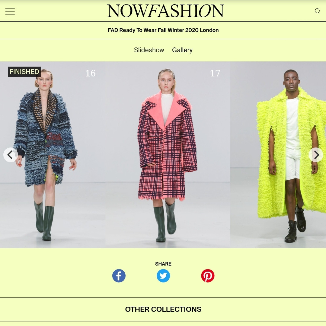 AW20 NOWFASHION fashion design students FAD International
