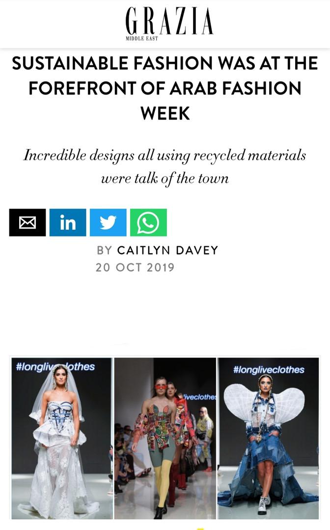 Grazia ME fashion design students FAD International