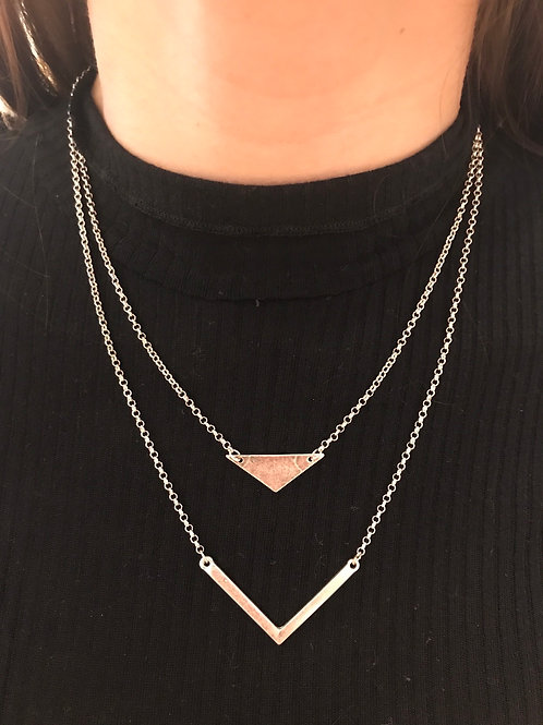 Double Layer V Necklace
