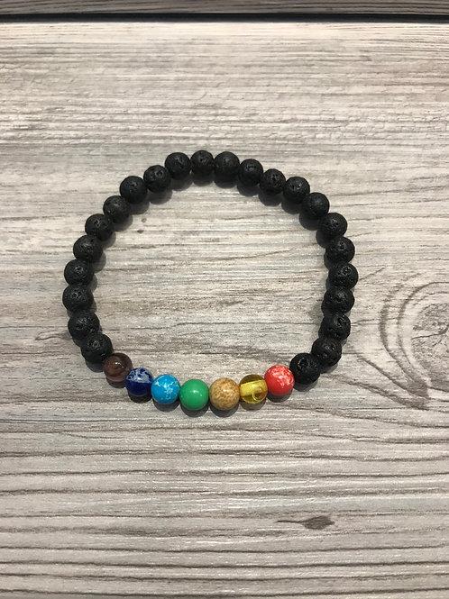 Chakra Lava Bead Bracelet