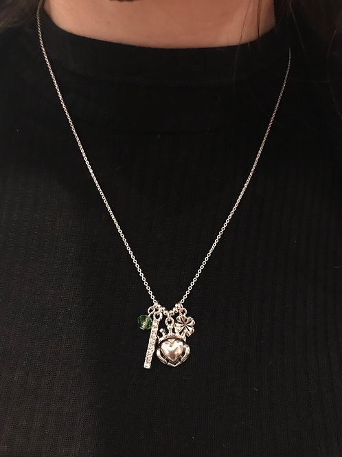 Clover&Heart Charm Necklace