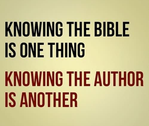 '... knowing the Author is another.