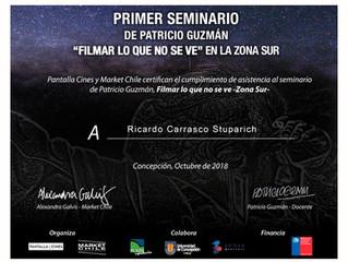 """Beca, Seminario Patricio Guzmán. """"Filmar lo que no se ve""""."""