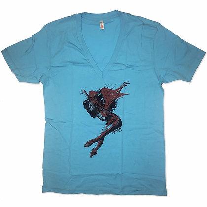 V-Neck T-Shirt - Blue 2