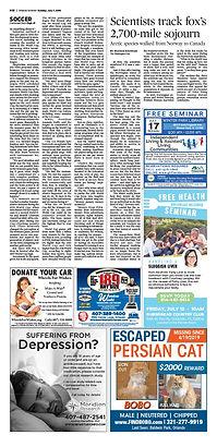 """""""Escaped Bobo"""" Orlando Sentinel Ad"""