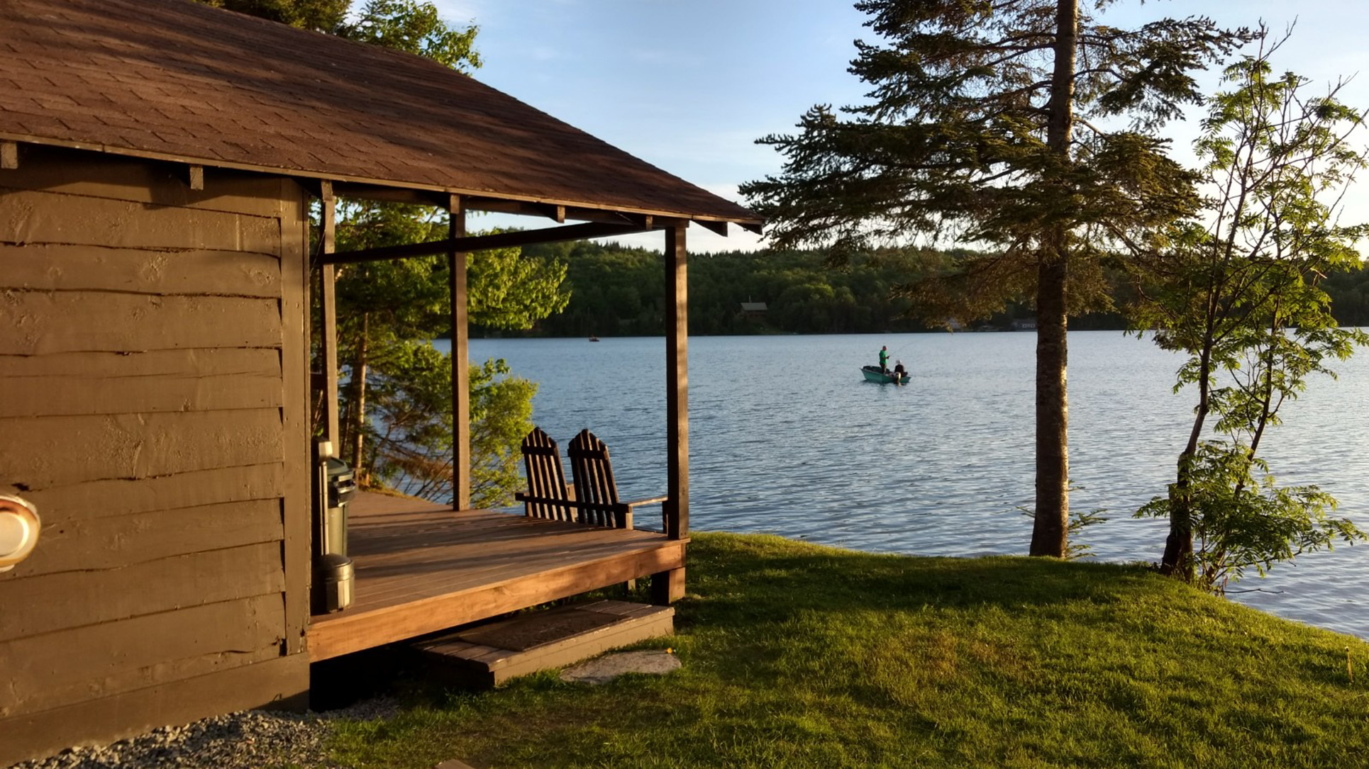 first img rentals conn cabins lopstick morning mist lakefront cabin nh
