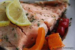 Salmon Filet on Mixed Vegetables