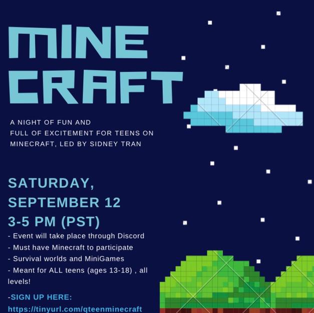 Teen Minecraft Gaming Event