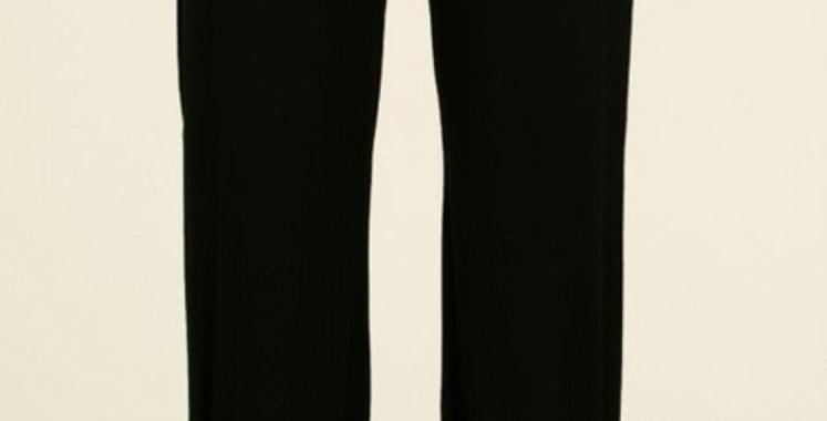 Black Side Slit Pants -7THR022