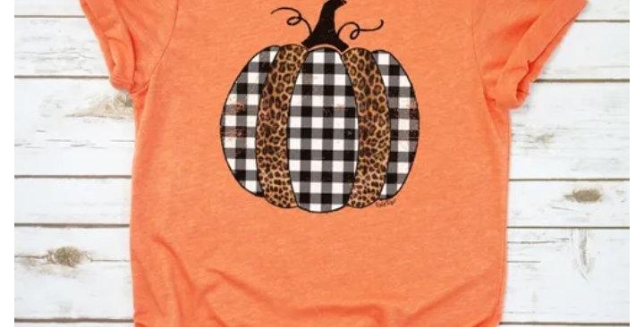 Plaid Pumpkin Tee #0022 RR