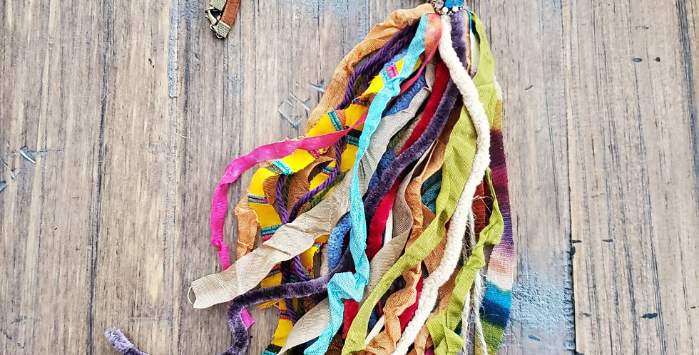Serape Tassel Necklace--Handmade