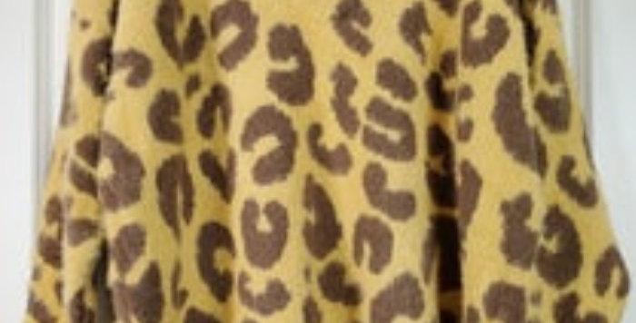 Mustard Leopard Sweater-POL